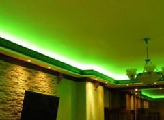 Что собой представляет и как делается гипсокартонный потолок с подсветкой?