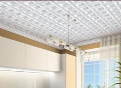 Как красиво оформить потолок пенопластовой плиткой?
