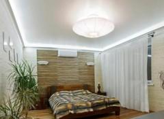Спальня с низким потолком — как выбрать люстру?