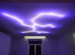 Подсветка натяжного потолка светодиодной лентой изнутри — как это выглядит?