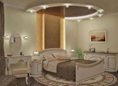 Выбираем расположение светильников для натяжных потолков в спальне