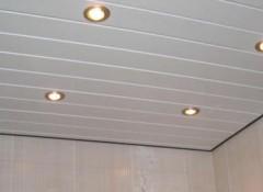 Преимущества и монтаж панельного потолка в ванной
