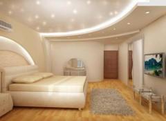 Преимущества и применение в различных помещениях двухъярусных натяжных потолков
