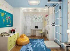 Особенности установки и использования детской шведской стенки с креплением к потолку