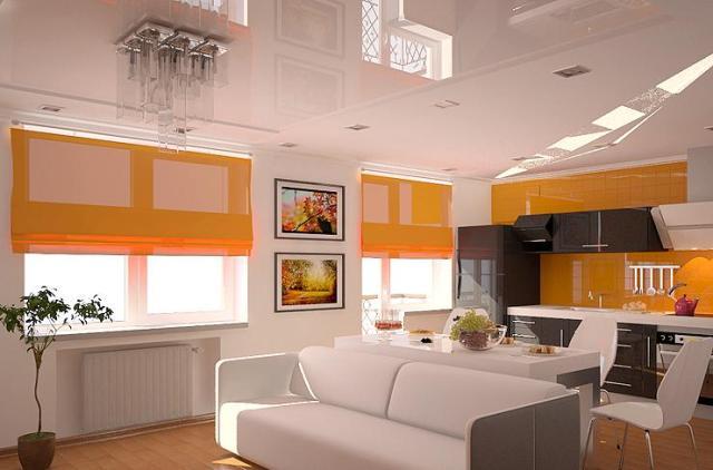 натяжные потолки в однокомнотной квартире
