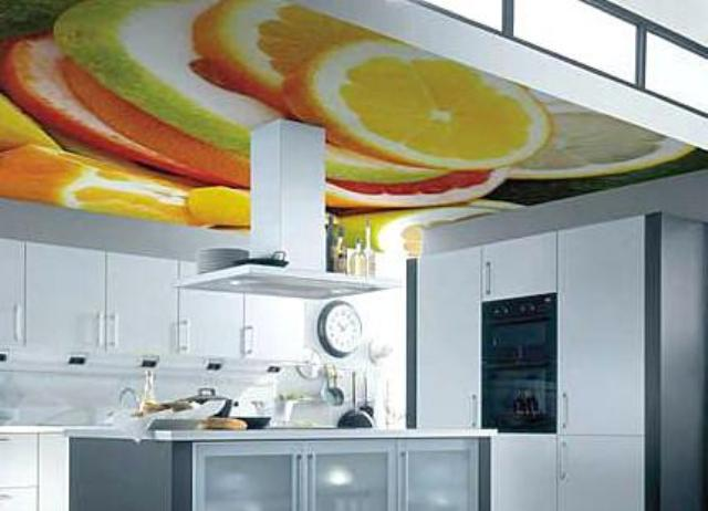 Как сделать потолок для кухню фото