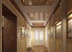 Применение в оформлении коридора натяжных потолков