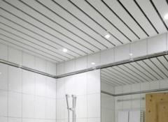 Какой выбрать реечный потолок в ванную?