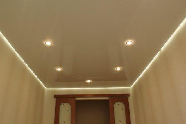 точечное освещение потолков