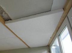 Утепление потолка изнутри пенопластом