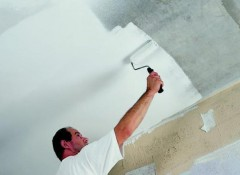 Побелка потолка водоэмульсионной краской — как сделать правильно?