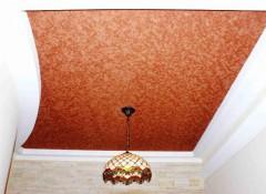 Особенности и варианты применения замшевых натяжных потолков