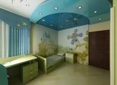 Особенности и применение натяжных потолков при оформлении детской