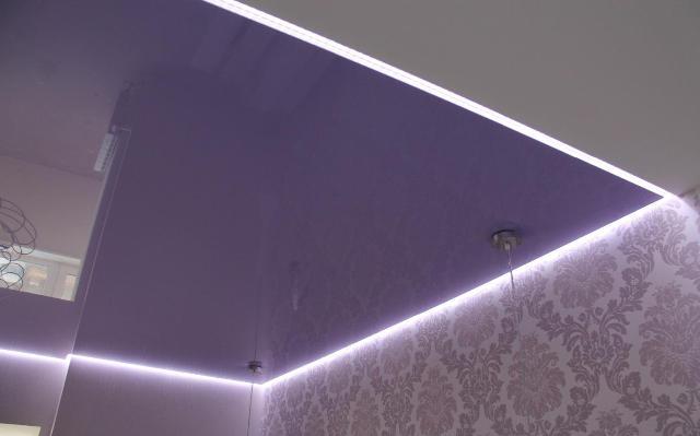 потолки натяжные фото одноуровневые