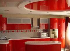 Особенности и варианты применения на кухне подвесных потолков