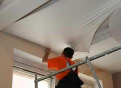Порядок и технология монтажа натяжного потолка