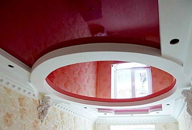 Как сделать круглые потолки