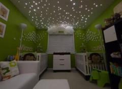 Как сделать звезды на потолке в детской?