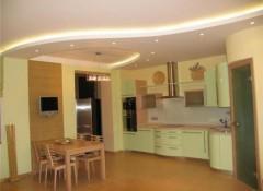 Потолки на кухне — какие они бывают?