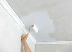 Как правильно валиком красить потолок водоэмульсионной краской?