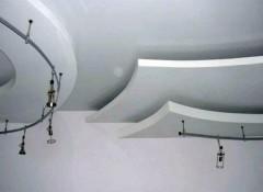 Как делаются многоуровневые гипсокартонные потолки?