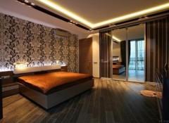 Варианты оформления в спальне потолка из гипсокартона