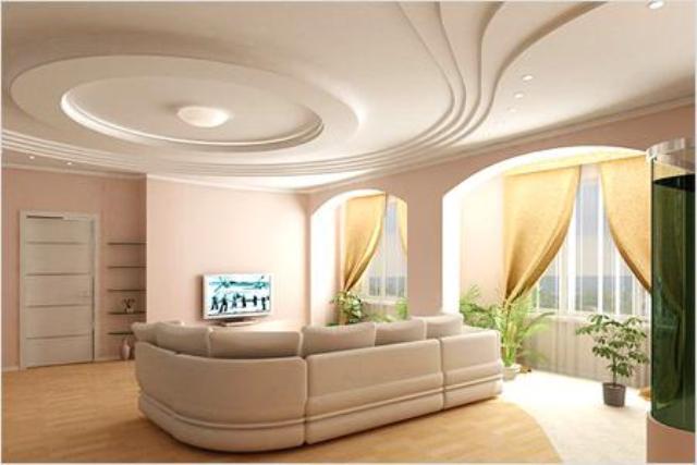 потолки из гипсокартона самые красивые фото