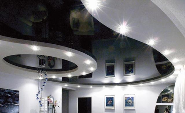 Фигуры на потолке для натяжного потолка