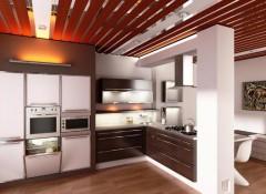 Особенности и варианты применения на кухне реечных навесных потолков