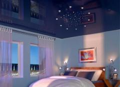 Варианты применения в оформлении спальни натяжных потолков