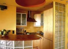 Варианты применения на кухне гипсокартонного потолка с подсветкой
