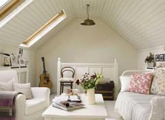 Второй или мансардный этаж — оформление наклонных потолков