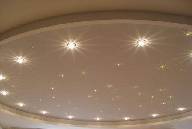 Софиты для натяжных потолков - фото и особенности