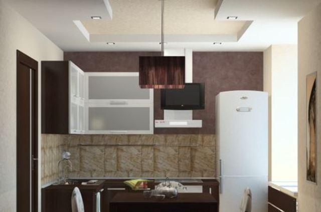 Варианты применения на кухне в хрущевке потолков из гипсокартона