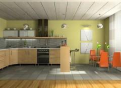 Как на кухне обшить потолок пластиком?