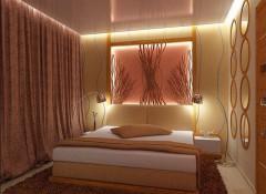 Варианты применения натяжных потолков в маленькой спальне