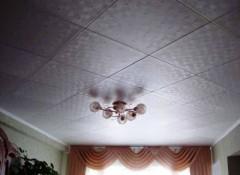 Виды и монтаж потолка из потолочной плитки