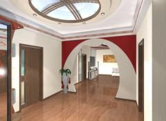 Варианты оформления потолков в холле