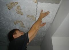 Виды и особенности клеющихся потолков