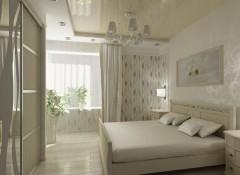 Особенности освещения в спальне с натяжными потолками