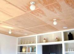 Особенности использования на даче потолков из фанеры