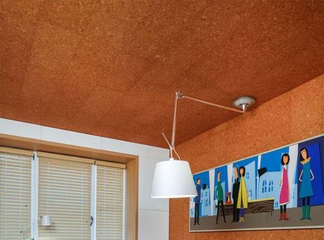 потолок пробковый фото