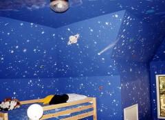 Использование в оформлении детской звездного потолка