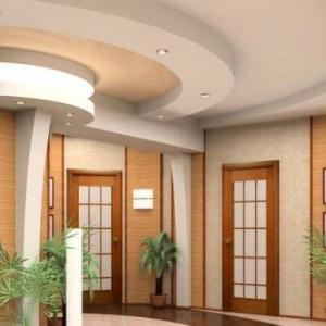 Подвесные потолки из гипсокартона — интересные решения