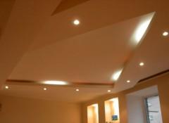 Двухуровневый потолок в коттедже — особенности, материалы, примеры