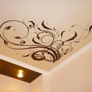 Виды и особенности натяжных потолков с узорами