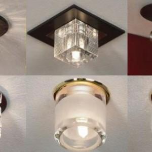 Преимущества и типы накладные точечных светильников на потолок