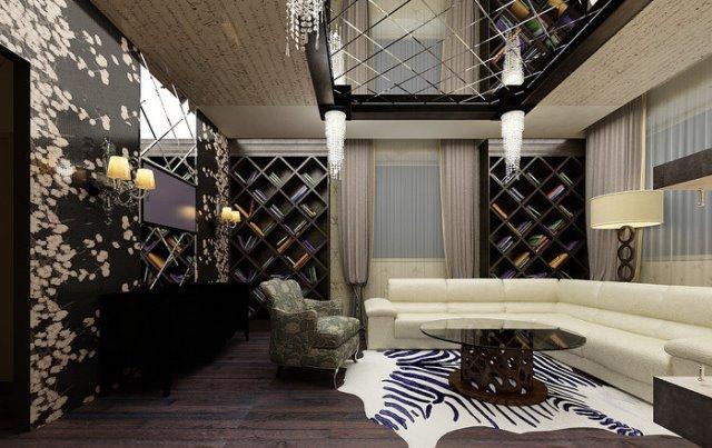 Дизайн зеркальных потолков