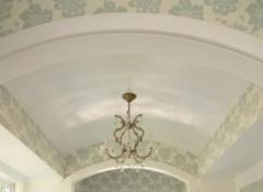 Особенности монтажа гипсокартонных арочных потолков