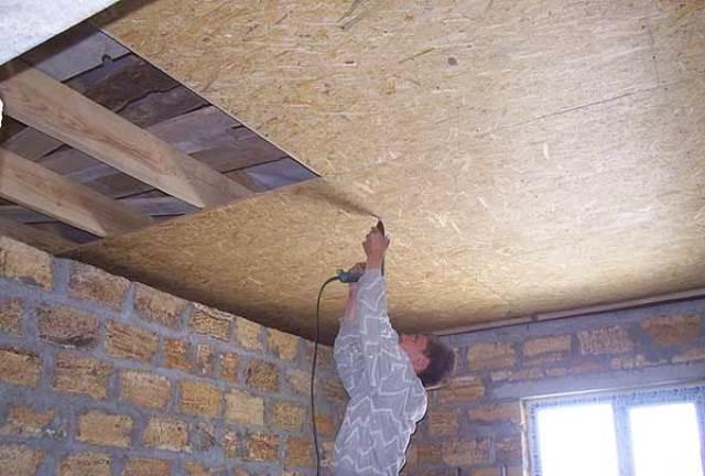 Потолок с дсп своими руками
